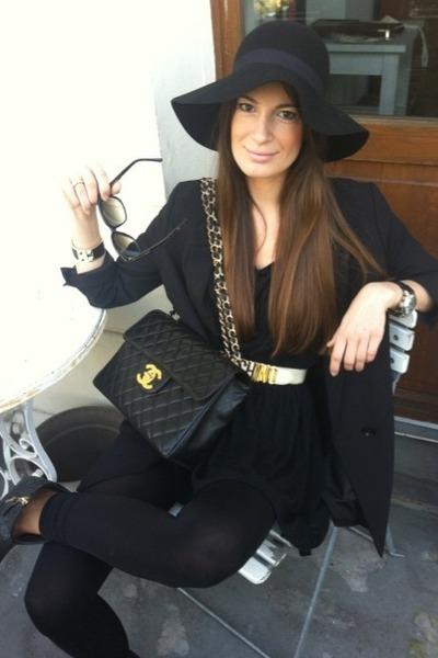 5d5a4d2f black H&M blazer - black weekday shirt - black Chanel bag - dark brown Marc  Jaco