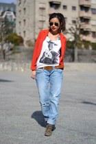 H&M blazer - River Island jeans
