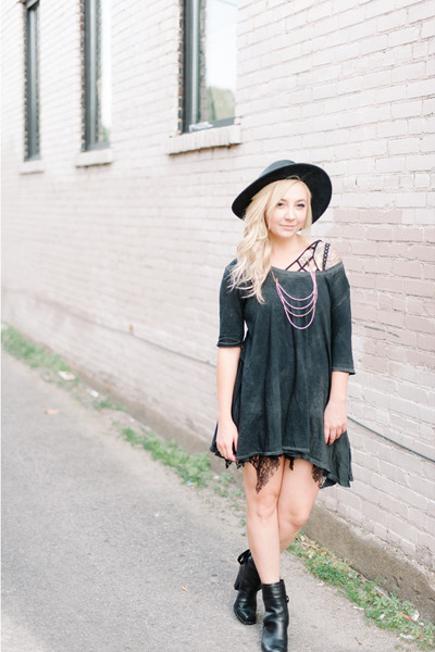 gray free people dress