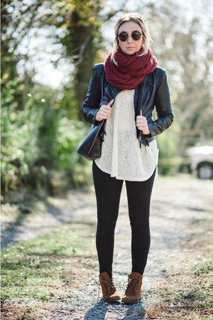 black BDG jeans - brown Steve Madden boots - black Nordstrom jacket