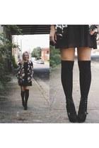 black H&M dress - black Forever 21 jacket