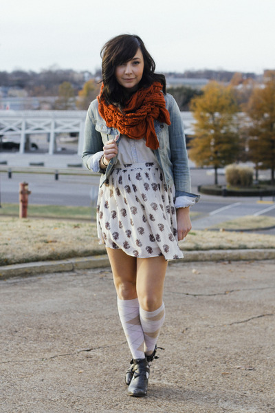 blue Forever 21 jacket - charcoal gray Jeffrey Campbell boots