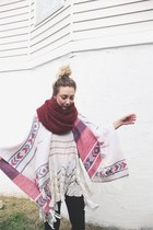 white free people dress - red Nordstrom cape