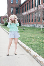 periwinkle American Apparel shorts