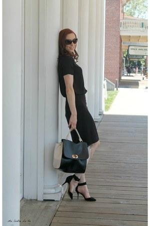 bcbg max azria skirt - Forever 21 shirt - JustFab bag - Zara heels