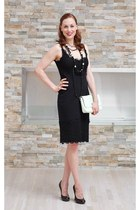 Diane Von Furstenberg dress - ted baker bag - Sasha Maks Vintage necklace