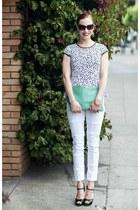 GiGi New York bag - Sonas Denim jeans - H&M sunglasses - kensie top