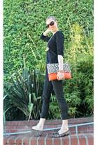 BCBG bag - casual Express leggings - Alfani shirt - Nicole flats
