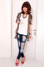 Navy-siwy-jeans-brown-zara-shirt-ivory-zara-top-red-christian-louboutin-he
