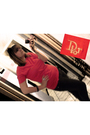 Red-christian-dior-t-shirt-gray-jeans-black-bracelet-accessories-white-bot
