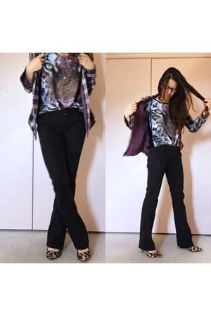 deep purple leopard galaxy shirt - deep purple prana plaid shirt