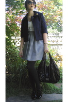 handmade skirt - cropped wool Tulle jacket - 34 sleeve Eye Shadow shirt