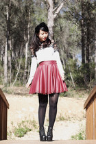 ruby red Dahlia skirt