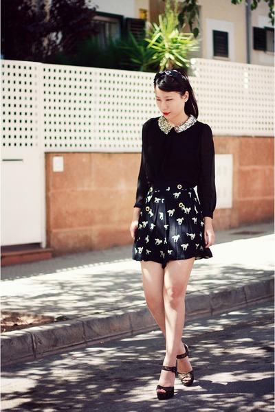 black Sheinside t-shirt