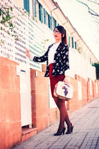 black Forever21 cardigan - crimson Sfera shoes