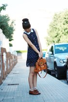 navy Mumu Home dress - burnt orange Vintage Century shoes