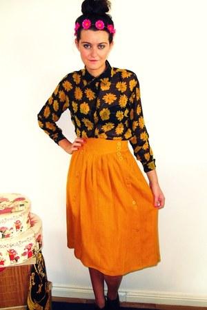 vintage skirt - vintage blouse