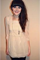 ivory lace vintage dress