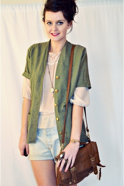 vintage from Ebay jacket - vintage from Ebay shorts - Millie and Me necklace