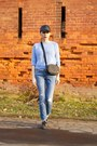 Navy-zara-coat-light-blue-ripped-zara-jeans-light-blue-new-look-sweater