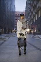 olive green leather Zara pants - black zipper Zara boots