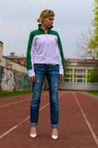 boyfriend Diesel jeans - Promod blouse - neon Atmosphere belt