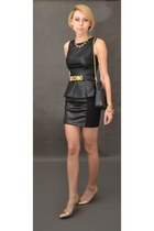Zara skirt - Moschino belt - Bershka blouse - Zara heels