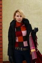 H&M scarf - Zara jeans - Vero Moda sweater