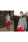 White-houndstooth-sheinsidecom-coat-black-c-a-top-ruby-red-pepe-jeans-pants