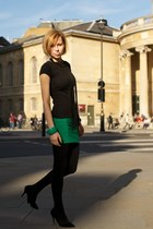 green Stradivarius skirt - black H&M necklace - black H&M top