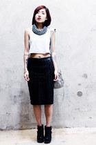 balenciaga bag - asos skirt - Irregular Choice wedges - Topshop top