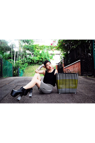 UNIF shoes - IKEA bag - H&M skirt - Finders Keepers top