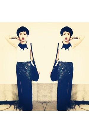 Topshop hat - Alexander Wang bag - necklace - asos skirt