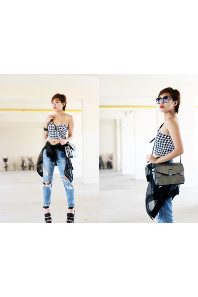 Stylenanda jeans - H&M jacket - Alexander Wang bag - Zara sunglasses