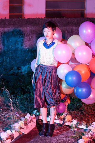 Irregular Choice shoes - top - skirt - necklace
