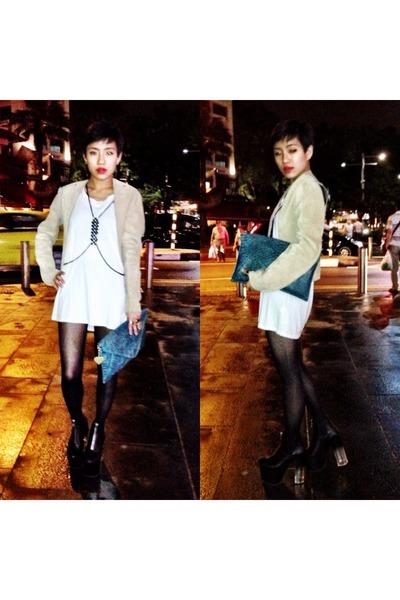 Zara top - UNIF shoes - Marc B bag - harness Topshop accessories