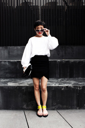 Stylenanda skirt - bag - Stylenanda top - Zara glasses - sandals