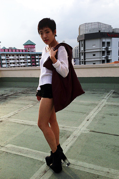 bag - UNIF shoes - H&M sweater - Topshop shorts