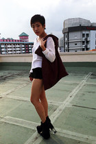bag - UNIF shoes - H&M sweater - Topshop shorts