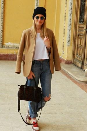 pull&bear bag - H&M sunglasses - Bershka sneakers