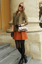 H&M boots - H&M blouse - Bershka skirt