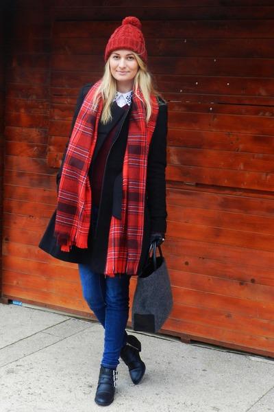 H&M scarf - H&M boots - Debenhams bag