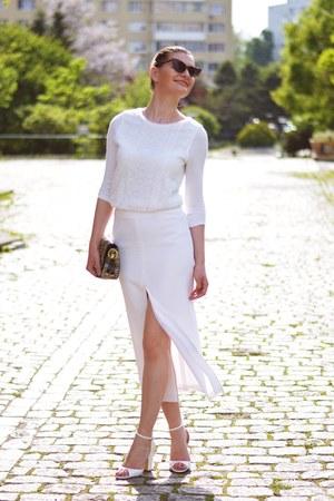 Zara shoes - asos skirt