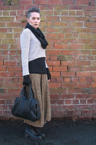 thrifted stone creek boots - Topshop scarf - Alexander Wang bag - Marks and Spen