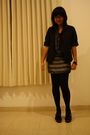 Black-elbelle-blazer-gray-body-and-soul-dress-black-stockings-vincci-shoes