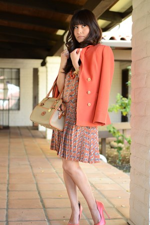 everly dress - H&M coat - dooney bourke purse - Aldo heels