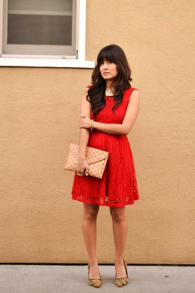 Wetseal dress - JCrew purse - Aldo pumps
