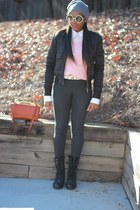 Diesel jacket - J Crew sweater - Marni bag - Tom Ford sunglasses
