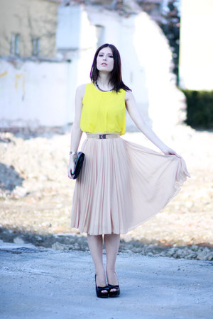 Mango skirt - Zara blouse - Mango belt