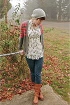 doc martens boots - Gap jeans - American Eagle hat - Forever 21 cardigan - Pac S